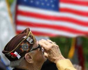 elderly veteran