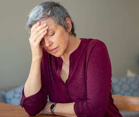 caregiver woman worried